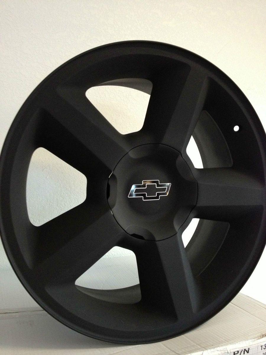 20 inch matte black chevrolet silverado tahoe avalanche ltz factory rims in motors parts accessories car truck parts