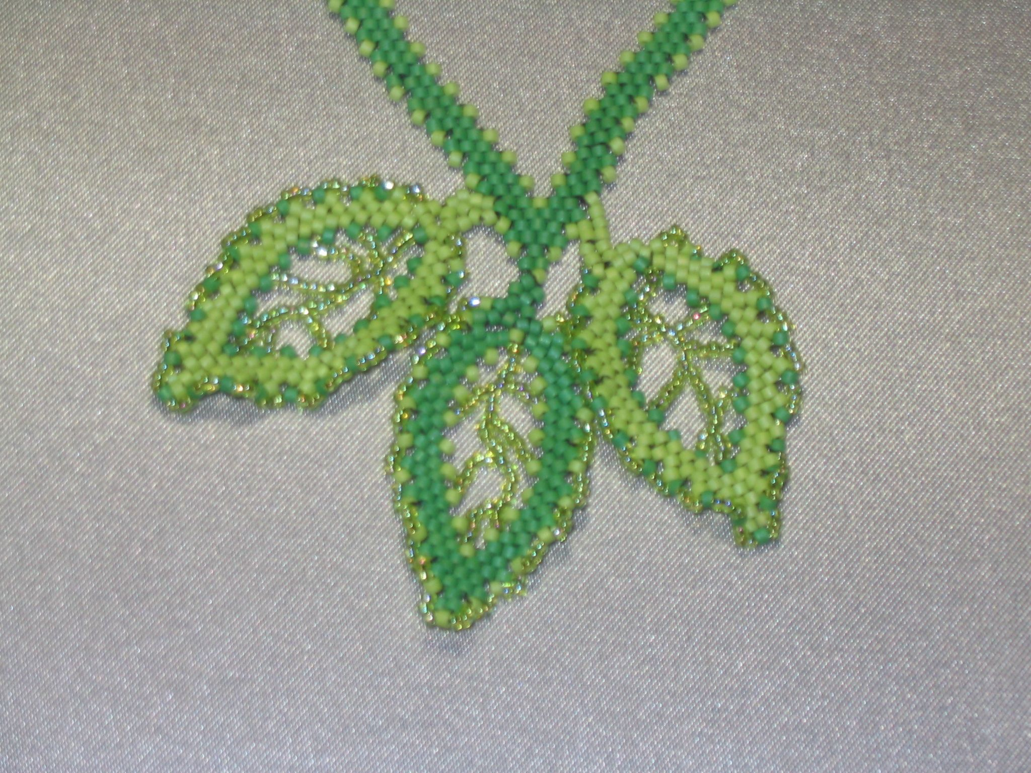 Russian leaf necklace for Barb