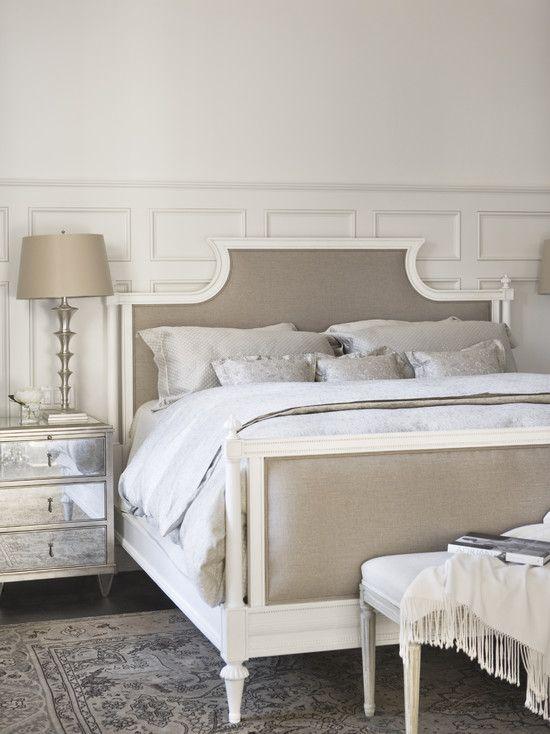 Beautiful neutral bedroom gray tan white creme linen la for Beautiful neutral bedrooms