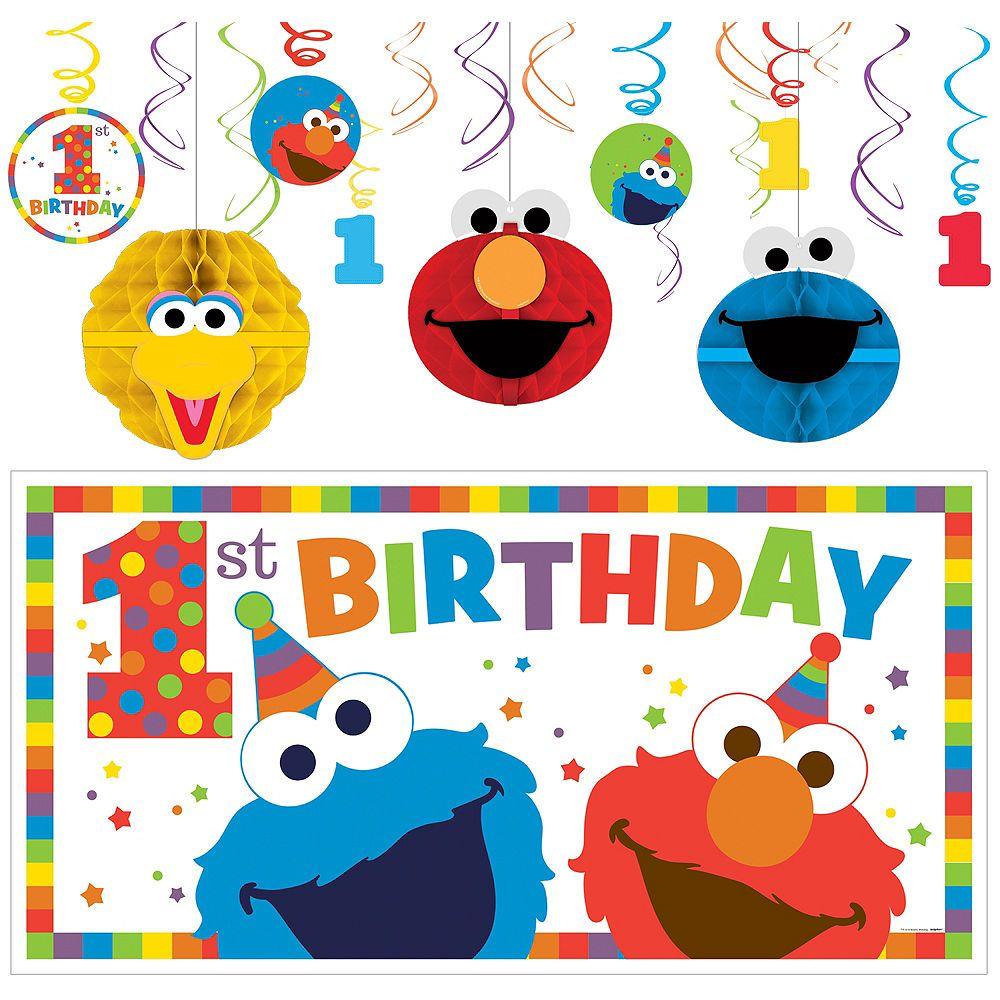 1st Birthday Elmo Decorating Kit 1st Birthday Party Supplies Elmo Birthday Party 1st Birthday Parties