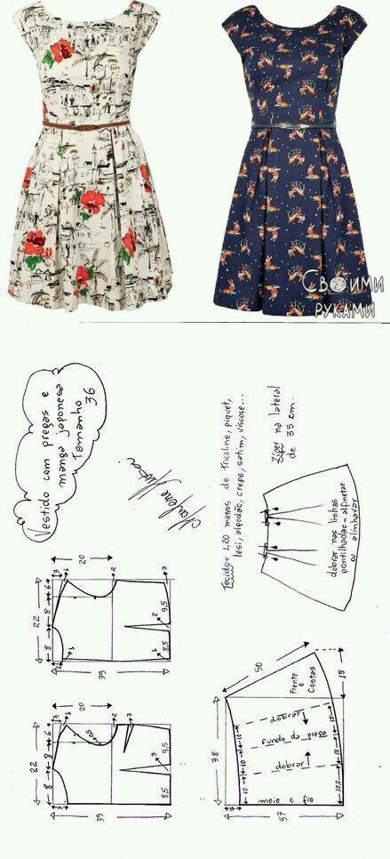 Vestido | Patrones de costura | Pinterest | Google, Patterns and ...