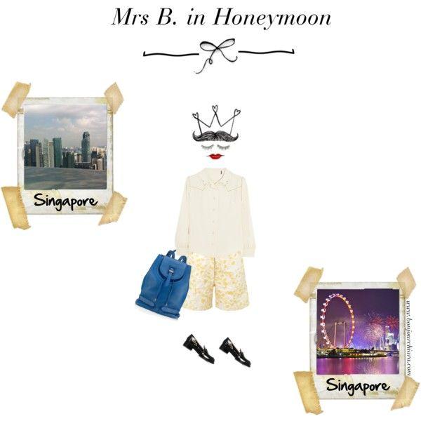 """Mrs B. in Honeymoon - Singapore"" www.bonjourchiara.com"