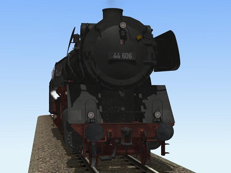 Dampflokomotive DB BR44 mit T34-Öltender. Ab #EEP10 http://bit.ly/Dampflokomotive-DB-BR44