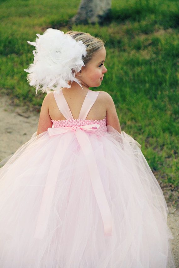 Pink And White Tutu Dresses Pink And White Feather Flower Girl