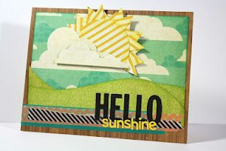 Very creative way to use Epiphany Crafts Shape Studio Pennant punch!  Mandy Starner used the punch for the sun rays!  Genius!!