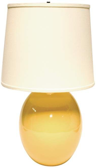Saffron Yellow Ceramic Egg Haeger Potteries Table Lamp