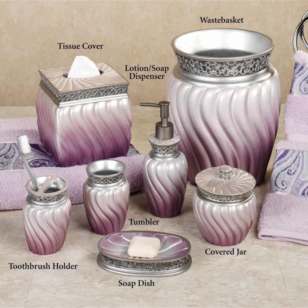 Lilac Bathroom Accessories  Lavender bathroom accessories