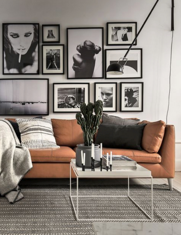 Gallery wall inspiration for the living room #scandinavianhome #interiorinspiration