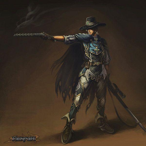 Fantasy - Human Gunner by ~reaper78 on deviantART