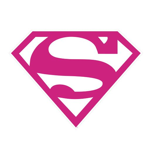 Free Comic Book Day Logo: Fathead Pink Supergirl Logo