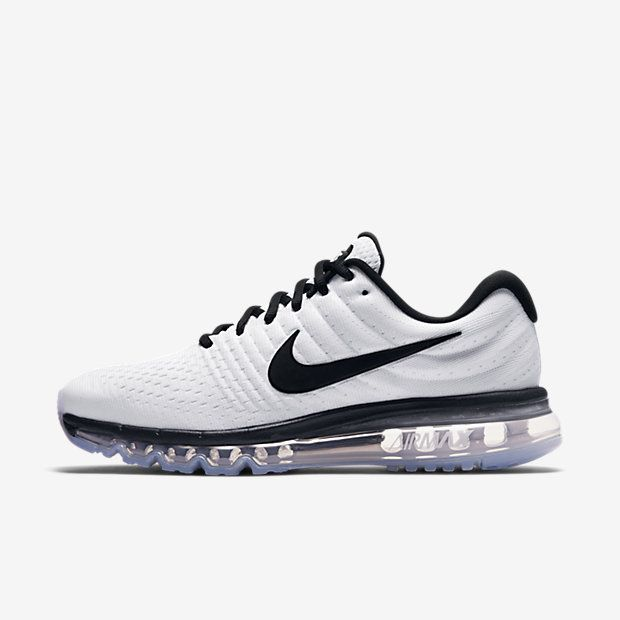 Homme Air Max 2017 Blanc/Noir | Chaussures homme, Homme