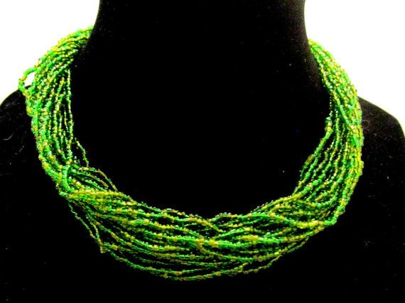 Vintage  COUTURE  GRIPOIX Peridot Green by MyJewelsBoutique