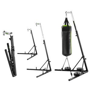 Foldable Boxing Bag Stand Includes Unfilled Punching Bag