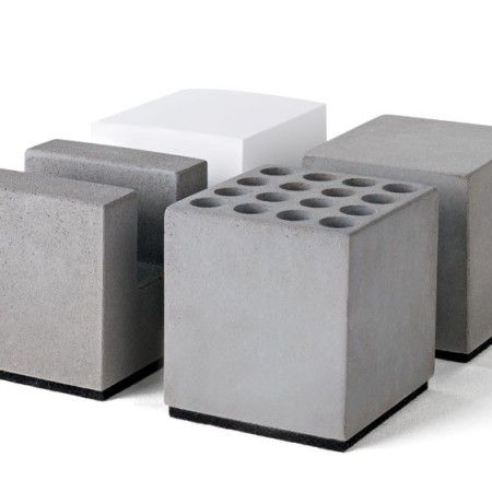 """Das Büro Set """"Block"""" aus Beton von Korn Produkte lässt keinen Schreibtisch mehr unordentlich aussehen. #beton #KornProdukte #handmade"""