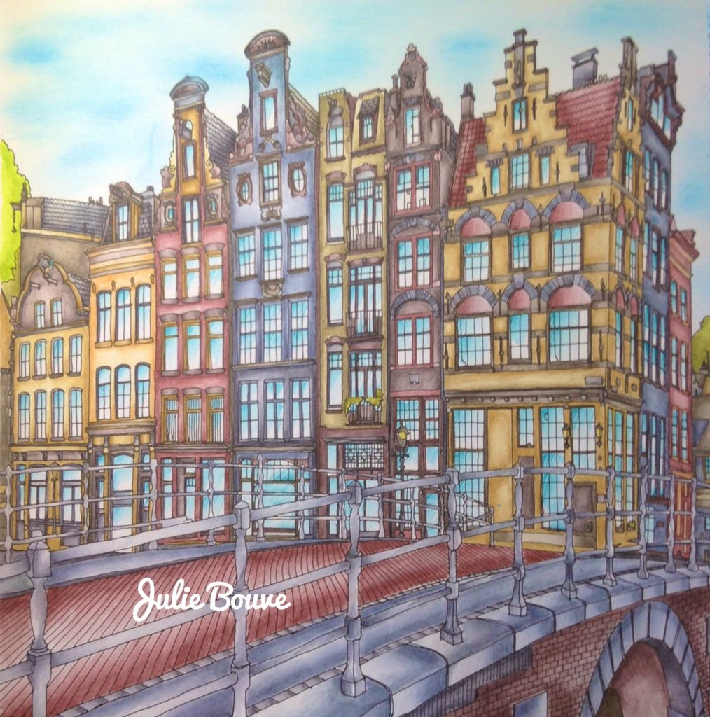 Fantastic Cities Derwent Inktense Pencils Colored By Julie
