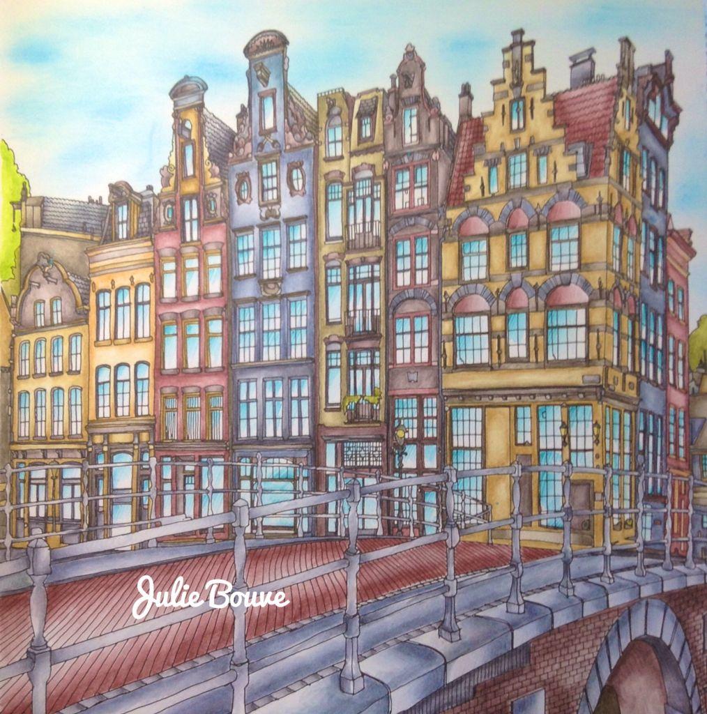 Fantastic Cities Derwent Inktense Pencils Colored By Julie Bouve Fantastic Cities Coloring Book Steve Mcdonald Paper City