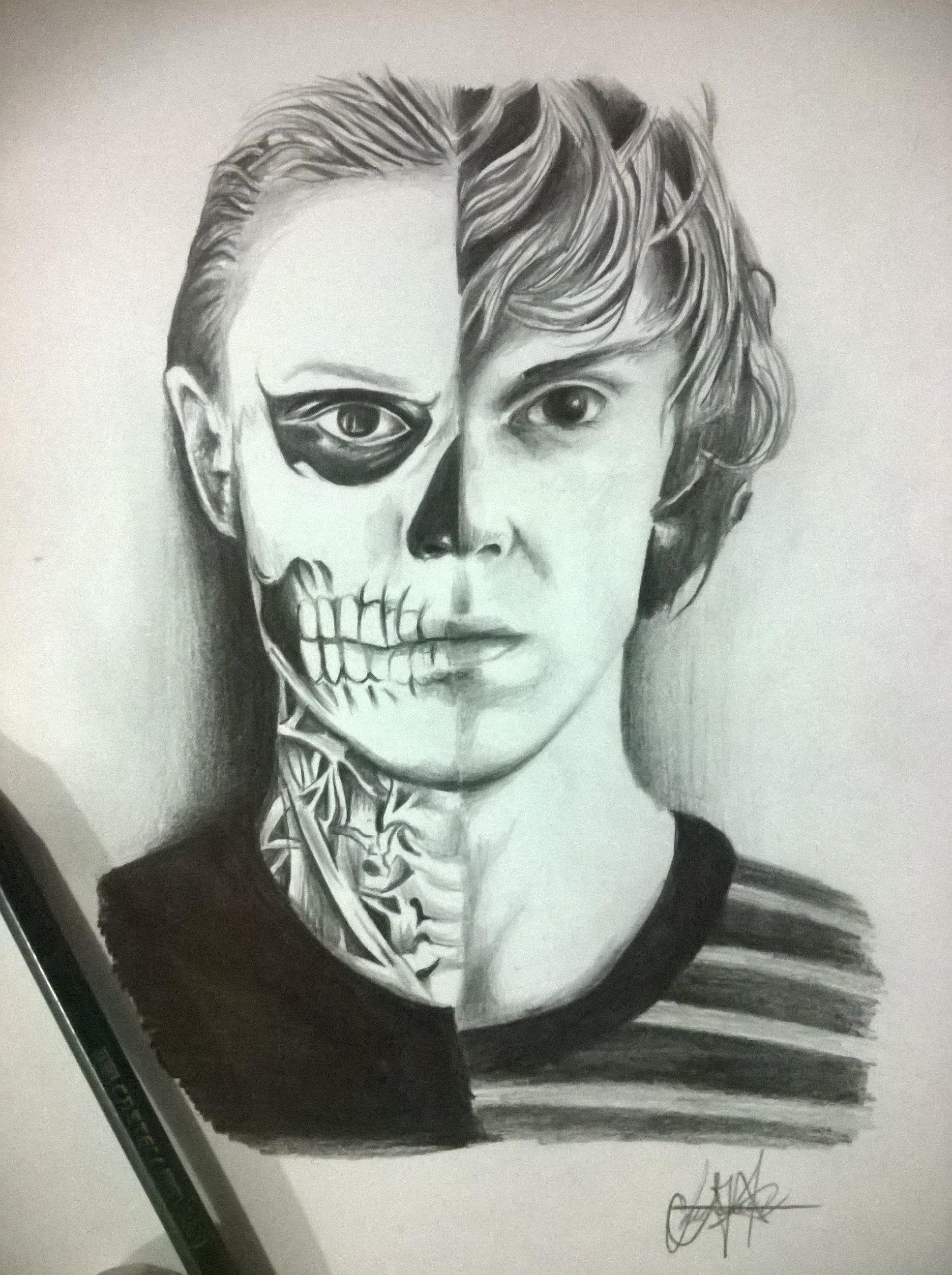 met-art.com katerina Tate langdon draw #american horror story #murder house