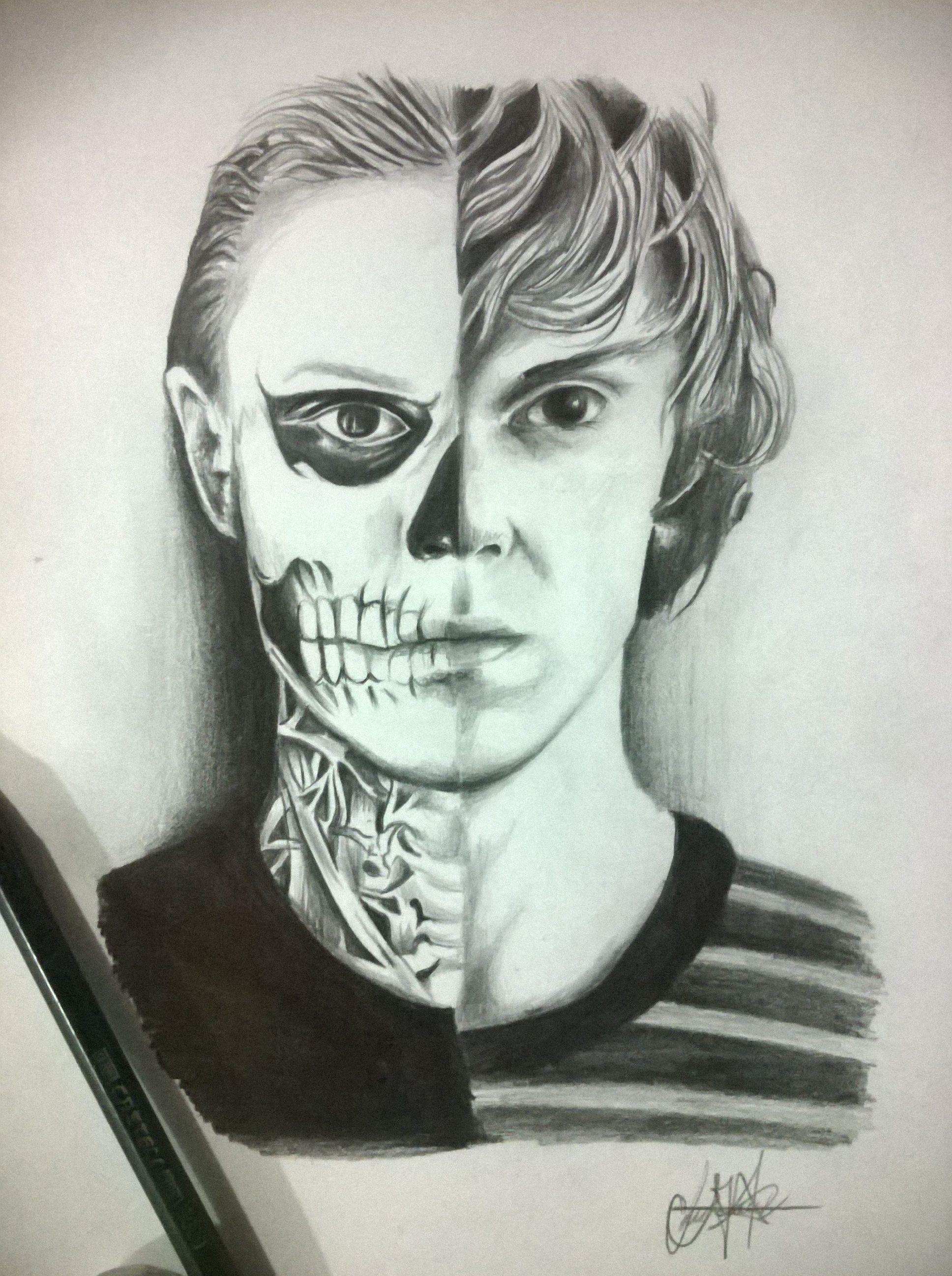Tate Langdon Draw #american Horror Story #murder House Ahs Art American