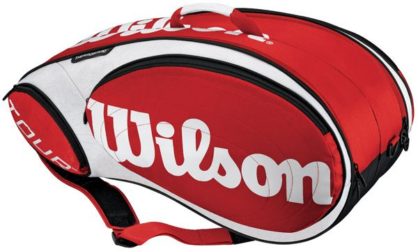 Wilson WRZ844209 Tour 9-Pack (Red/White)