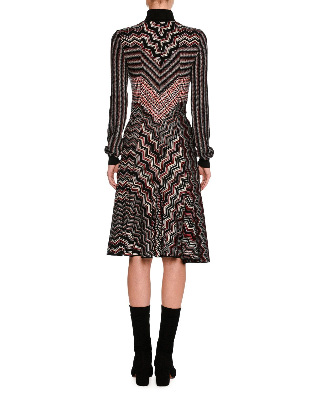 b10c564c17 Missoni Patchwork Jacquard Turtleneck Sweater Dress