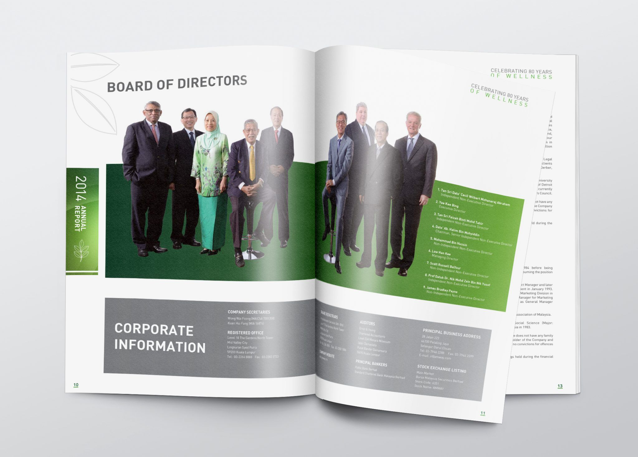 amway magazine board of directors creative graphic design page