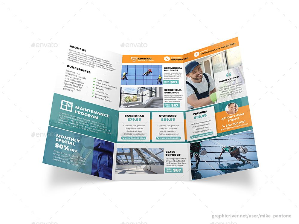 Cleaning Service Trifold Brochure | Informational