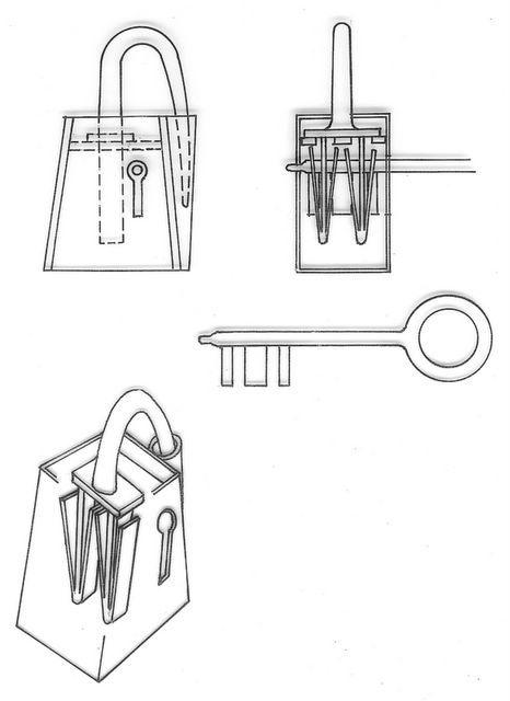 Viking-Era padlock with springs and turning key: need to