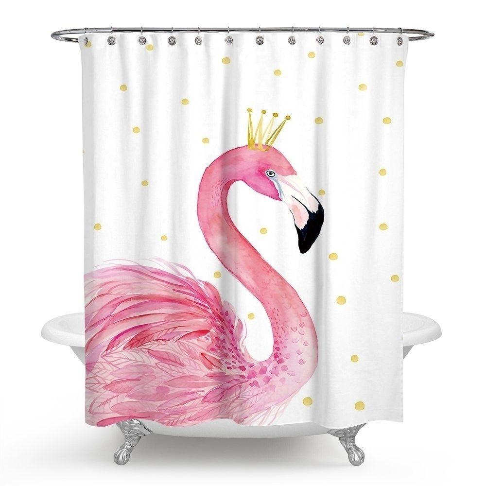 Shower Curtain Pink Flamingo Bathroom Flamingo Bathroom