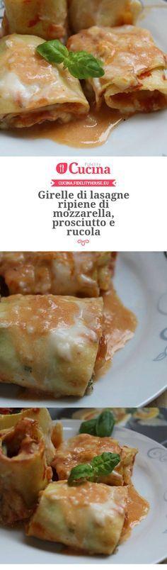 Girelle di lasagne ripiene di mozzarella, prosciutto e rucola della nostra utente Vittoria. Unisciti alla nostra Community ed invia le tue ricette!