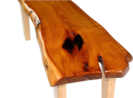 Live Edge Mesquite Slab Coffee Table Bench Available By RAWWORXS