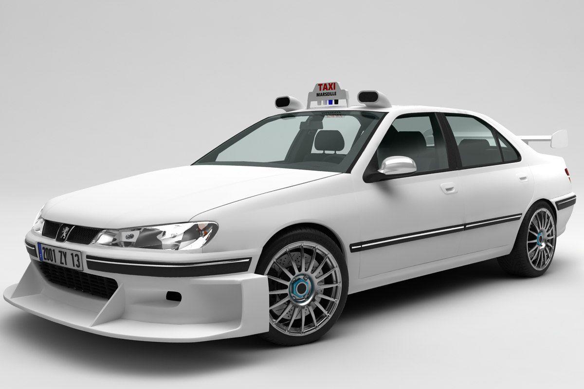 3d Peugeot 406 Taxi Peugeot Taxi Cars Movie