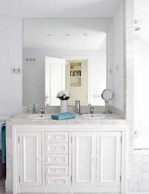 unbalanced yet balance bathroom vanity all white bathroom rh pinterest com