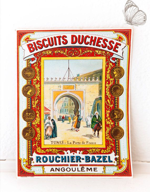 Rare: Early 1900s French Retail Poster or Product Wrapping ...