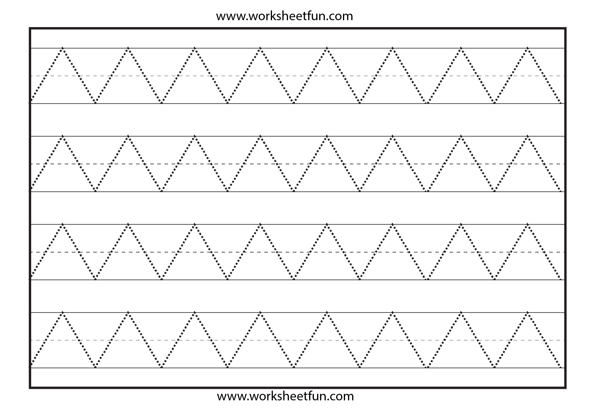 zig zag line tracing preschool worksheets pinterest zig zag worksheets and school. Black Bedroom Furniture Sets. Home Design Ideas