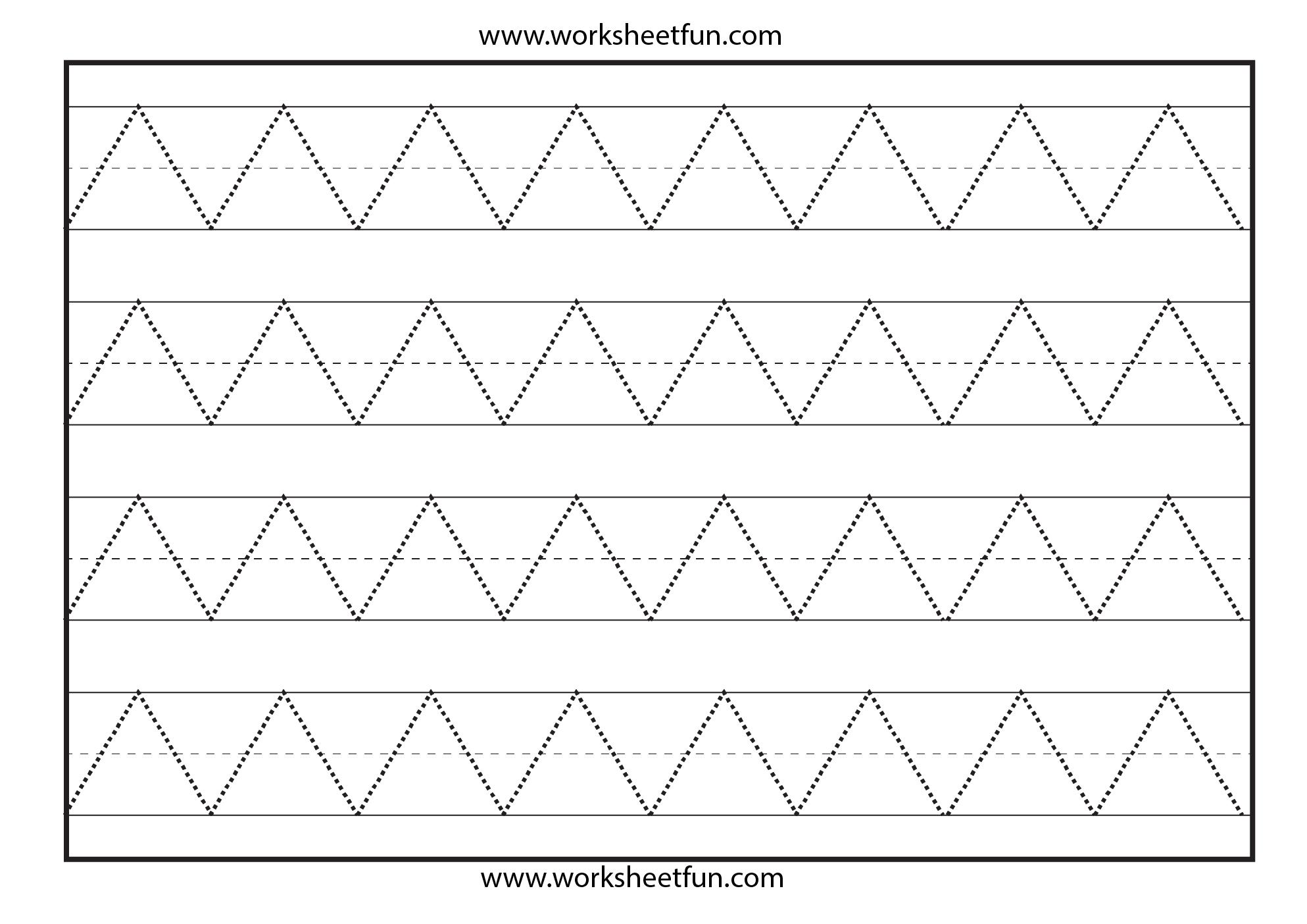Preschool Pre-Writing Printable Worksheets