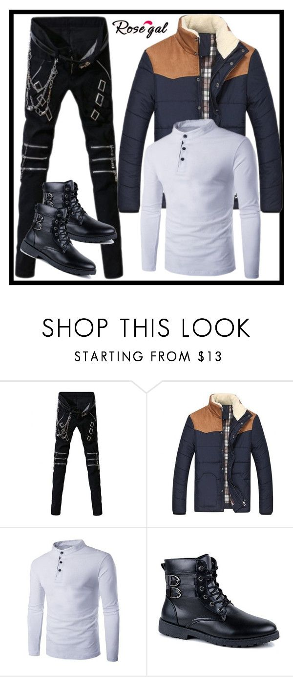 """""""rosegal 30"""" by merisa-imsirovic ❤ liked on Polyvore featuring men's fashion and menswear"""