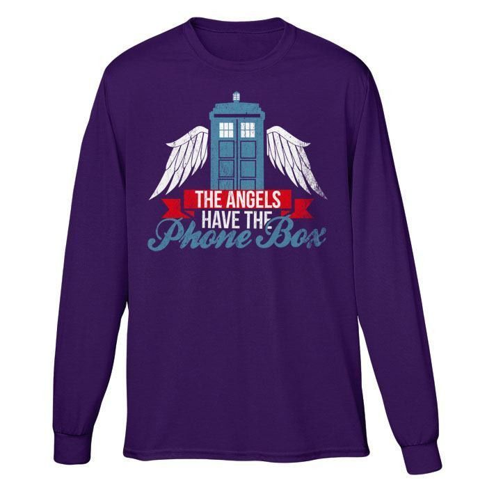 Angels Have the Phonebox - Long Sleeve T-Shirt (Unisex)