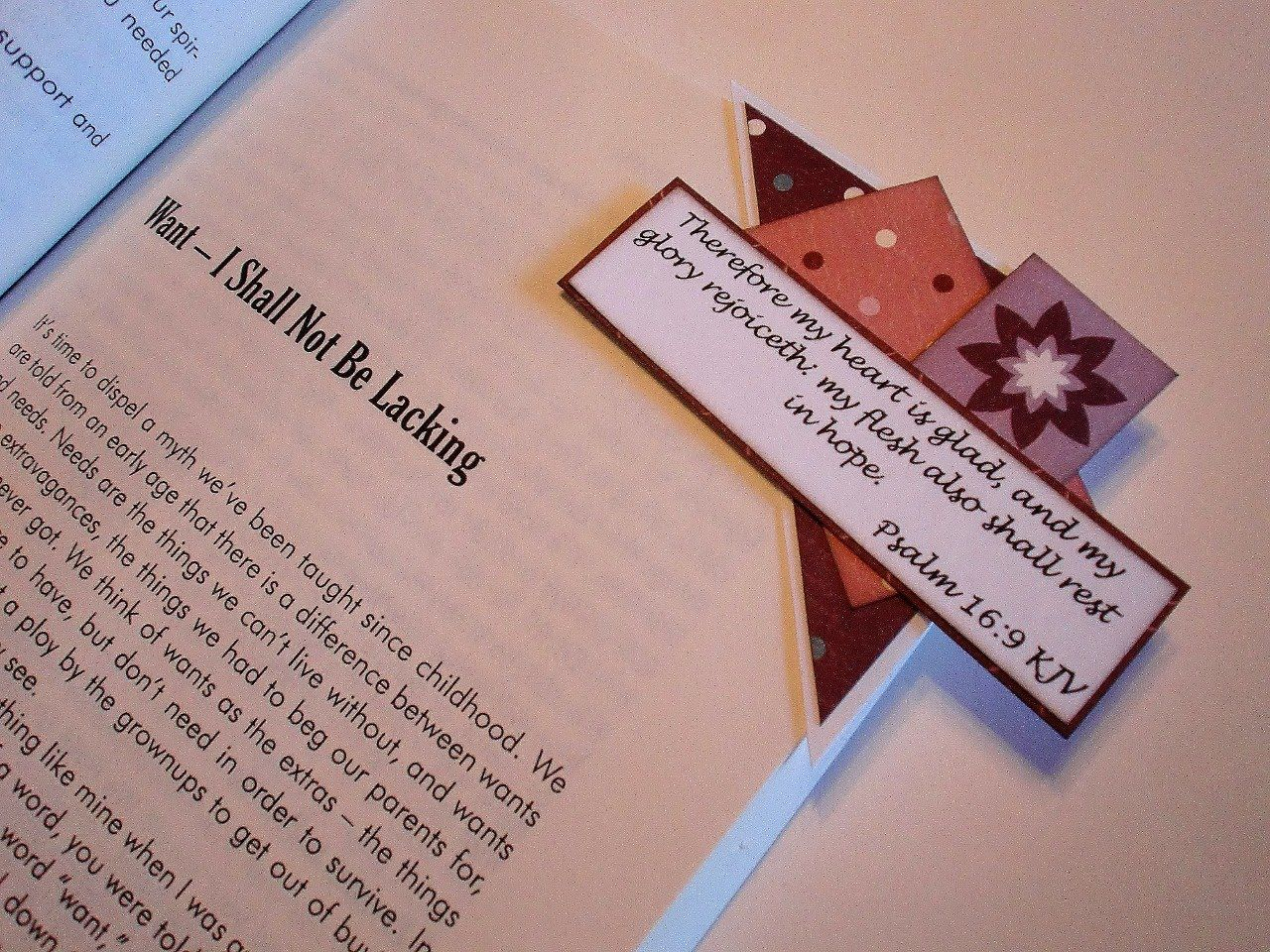 Living as a Victorious Christian Woman: Corner Bookmarks