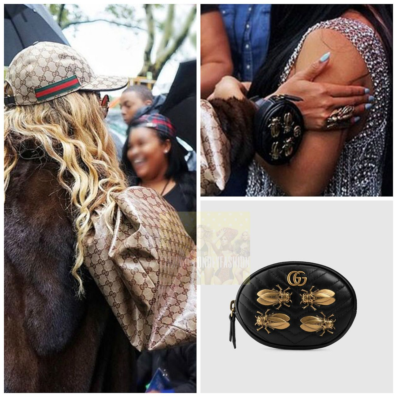 76652b02458c Gucci gg marmont animal studs wrist pouch ($520)   BaddieBey   Gucci ...