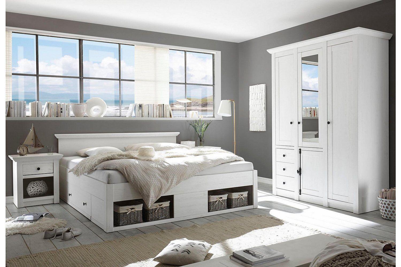 Home affaire Bett »California« Rustikale wohnzimmermöbel
