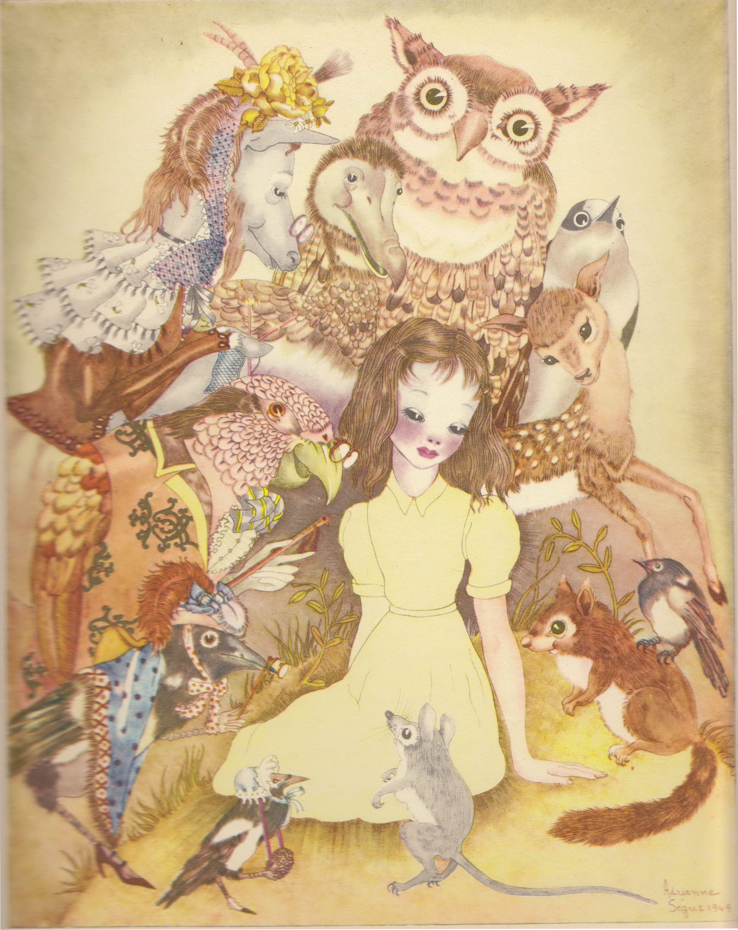 4 of 21 illustrations by Adrienne Segur in Alice in Wonderland
