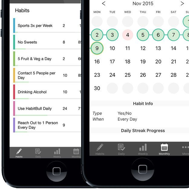 HabitBull (free, iOS and Android) is a habit tracking app