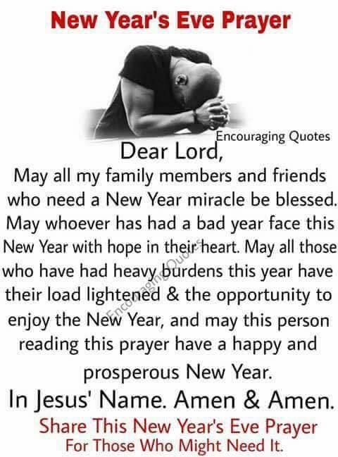 New Years Prayer for 2018 Mildred Williams | Words of Wisdom ...