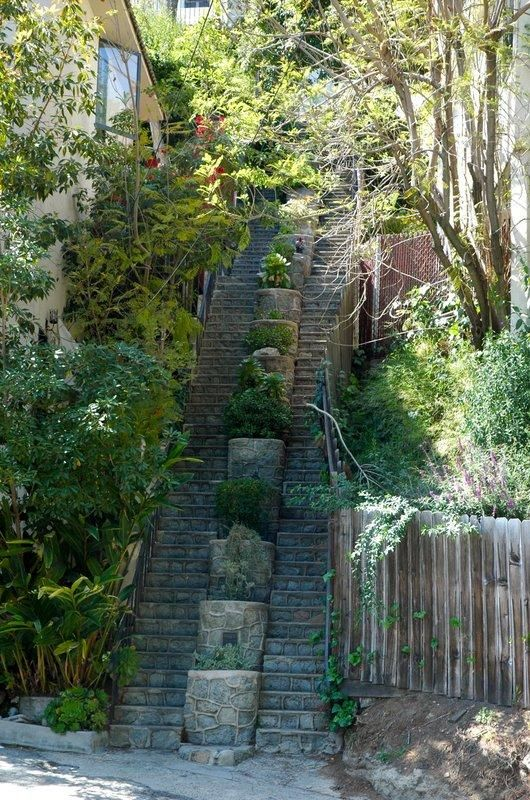 Amazing Hollywoodland Staircase That We Pass On Our Way To See The Hollywood Sign.  This Is
