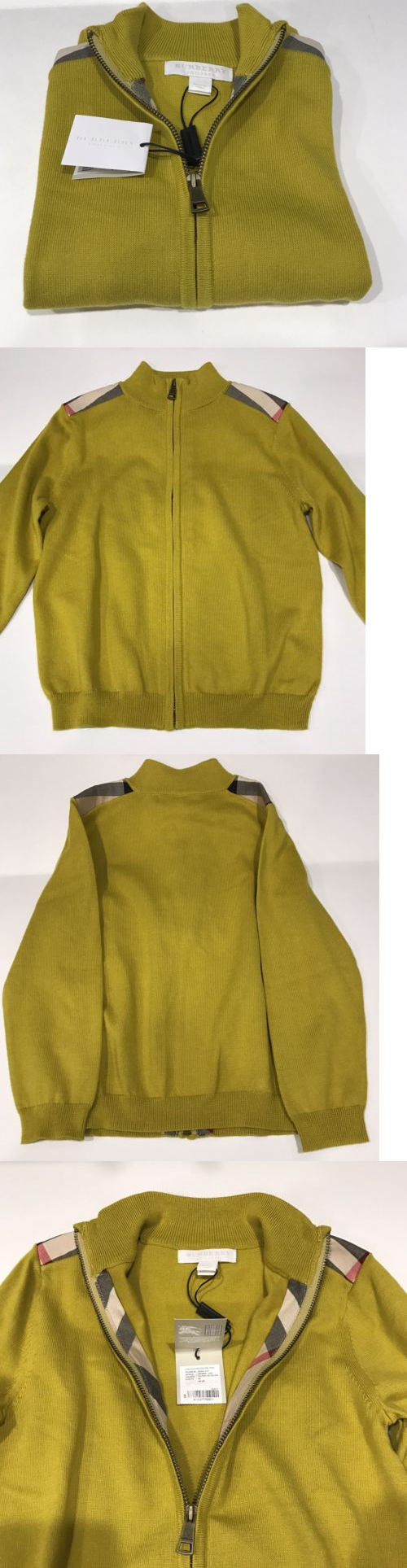 Sweaters 175657: Nwt Burberry Children Boys 4 Years Yellow Sweater ...