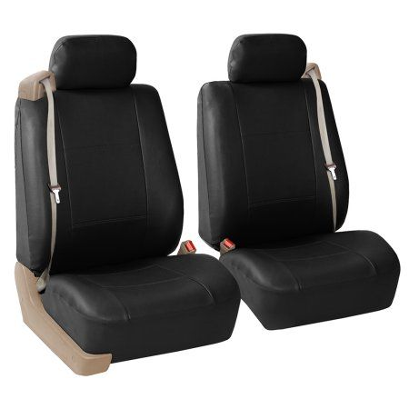 Superb Fh Group Faux Leather Bucket Seat Covers Pair For Caraccident5 Cool Chair Designs And Ideas Caraccident5Info