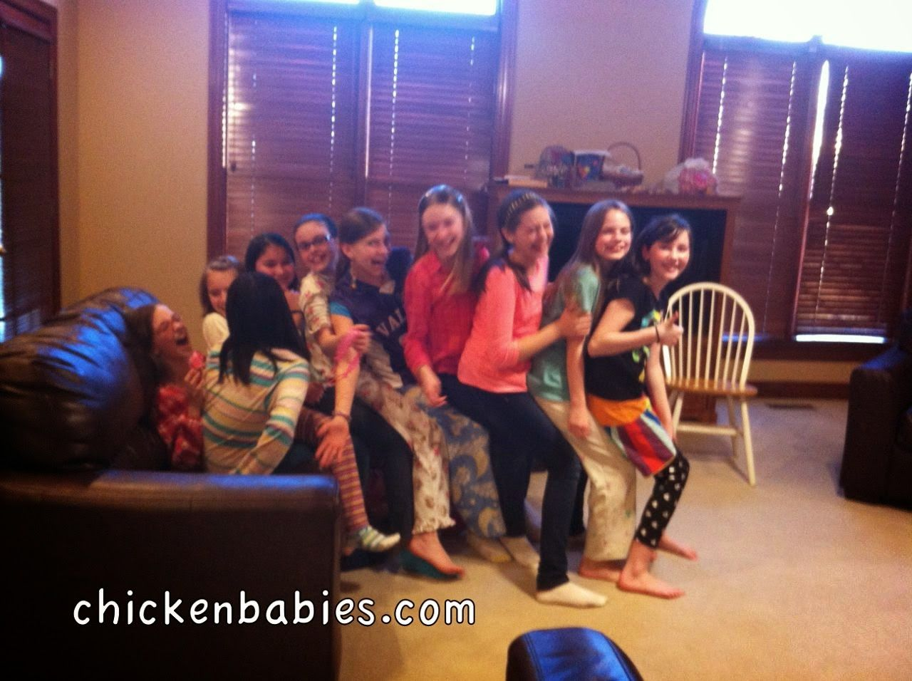 a late over birthday party for my 11 year old birthdays