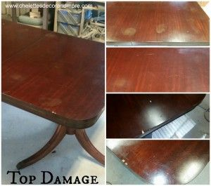 Duncan Phyfe Dining Table Repair Refinish For The Mcbrayer