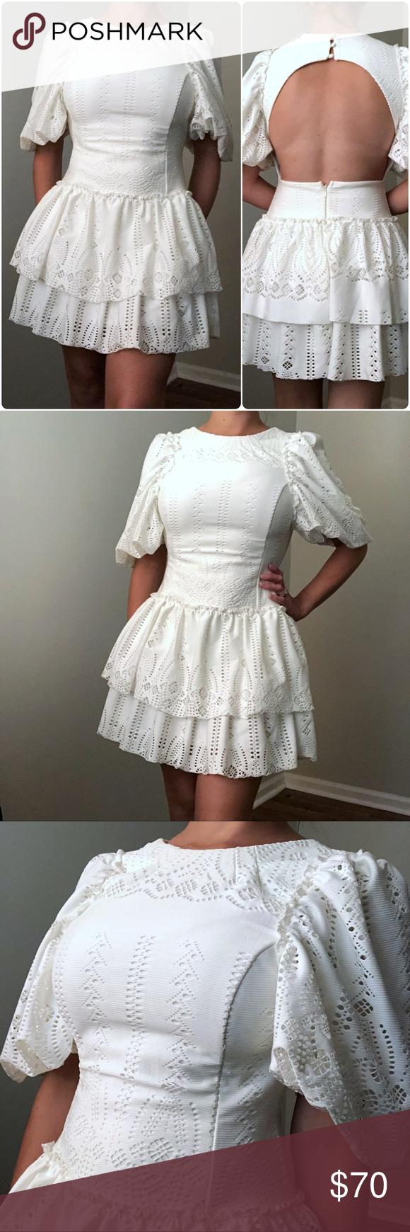 Asos White Open Back Tiered Ruffle Dress Sz 6 Nwt Tiered Ruffle Dress Dresses Ruffle Dress [ 1740 x 580 Pixel ]