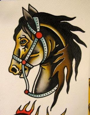 Traditional Brown Horse Tattoo Design Traditional Tattoo Tattoos